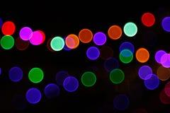 Abstrakter heller Bokeh-Hintergrund Unschärfebild von defocus Licht nachts stock abbildung