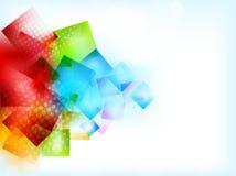 Abstrakter heller Hintergrund mit Quadraten lizenzfreie abbildung