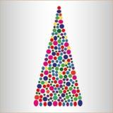 Abstrakter heller Weihnachtsbaum lizenzfreies stockbild