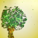 Abstrakter Herbstbaum Stockbilder