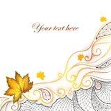 Abstrakter Herbsthintergrund mit punktierten Ahornblättern Stockfotos