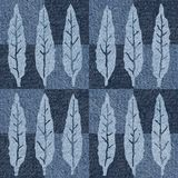 Abstrakter Herbstlaub - nahtloser Hintergrund - Jeansbeschaffenheit stock abbildung