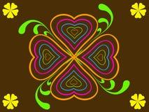 Abstrakter Herzblumenhintergrund Stock Abbildung