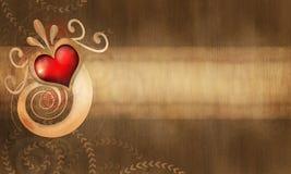 Abstrakter Herzhintergrund Stockfoto