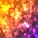 Abstrakter Herzillustrationshintergrund mit Schatzdesign Lizenzfreies Stockfoto
