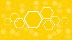 Abstrakter Hexagon Bienenbienenstock-Hintergrundvektor Stockfoto