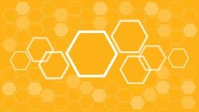 Abstrakter Hexagon Bienenbienenstock-Hintergrundvektor Stockbilder