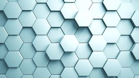 Abstrakter Hexagon-Hintergrund-gelegentliche Bewegung, Animation 3d stock video footage