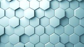 Abstrakter Hexagonhintergrund Stockbilder