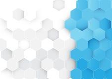 Abstrakter Hexagonhintergrund Stockfotos