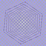 Abstrakter Hexagonhintergrund mit Lichteffekten Verdrehtes Hexagon Abstrakte Vektorform Abstraktes geometrisches modernes Stockbilder