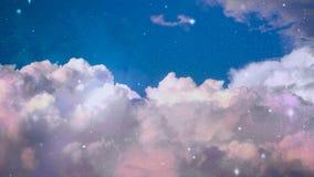 Abstrakter Himmel mit Wolke und Stern Stockbild