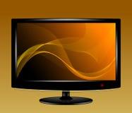 Abstrakter Hintergrund auf LCD-Monitor Lizenzfreie Stockbilder