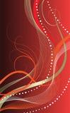 Abstrakter Hintergrund auf Rot Stockfotos