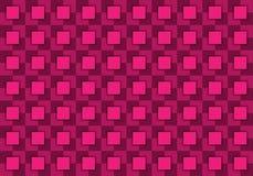 Abstrakter Hintergrund bestanden aus Quadraten in den rosa Schatten stock abbildung