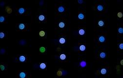Abstrakter Hintergrund-bunte runde helle kalte Farbe Tone Bokeh Circles für Feier-Weihnachts-und neues Jahr-Ereignis-Hintergrund Lizenzfreies Stockbild