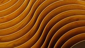 abstrakter Hintergrund 3d Hölzerne Wellen und Kurven Lizenzfreies Stockfoto