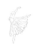Abstrakter Hintergrund. Der Ballerinatanzentanz Stockbild