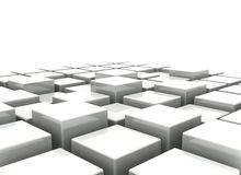 Abstrakter Hintergrund der Blöcke 3d Stockfoto