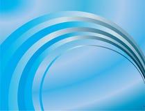 Abstrakter Hintergrund der blauen Ringe stock abbildung