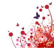 Abstrakter Hintergrund der Blume Stockfotos