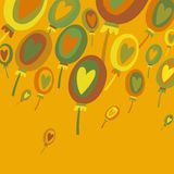 Abstrakter Hintergrund der bunten Ballone Lizenzfreie Stockbilder