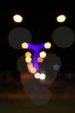 Abstrakter Hintergrund der bunten Leuchten der Stadt Nacht Stockfotos