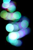 Abstrakter Hintergrund der bunten Leuchten der Stadt Nacht Lizenzfreie Stockfotos