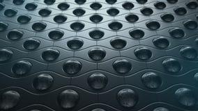 Abstrakter Hintergrund der dunklen Bälle des Musters rostigen, Illustration 3D stock abbildung