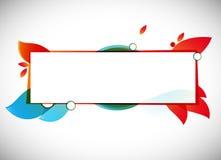 Abstrakter Hintergrund der Farbe vektor/Textfeld Stockbild