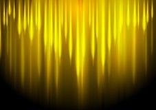 Abstrakter Hintergrund der gelben Streifen des Glühens Stockbild
