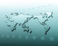 Abstrakter Hintergrund der Geographie lizenzfreie abbildung