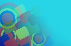 Abstrakter Hintergrund der geometrischen Formen. Stockfotografie