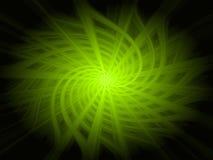 Abstrakter Hintergrund der grünen Leuchte Lizenzfreie Abbildung