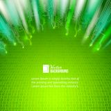 Abstrakter Hintergrund der grünen Lichter. Stockbilder