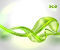 Abstrakter Hintergrund der grünen Welle Stockbild
