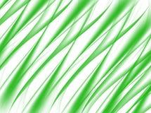 Abstrakter Hintergrund der grünen Welle auf Weiß Stockfotografie