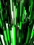 Abstrakter Hintergrund der grünen Leuchte Stockfotos