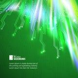 Abstrakter Hintergrund der grünen Lichter. Stockfotografie