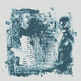 Abstrakter Hintergrund in der grunge Art Lizenzfreie Stockbilder