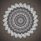 Abstrakter Hintergrund der Mandala Dekorative Elemente der Weinlese Orientalisches Muster, Vektordesign Islam, Arabisch, Inder, t Lizenzfreies Stockbild