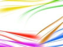 Abstrakter Hintergrund der Mehrfarbenwelle auf Weiß Stockfotografie