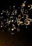 Abstrakter Hintergrund der Musik Lizenzfreies Stockbild