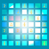 Abstrakter Hintergrund der musikalischen Anmerkungen Lizenzfreies Stockfoto