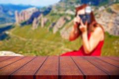 Abstrakter Hintergrund der Natur und des Fotografen Lizenzfreie Stockfotografie