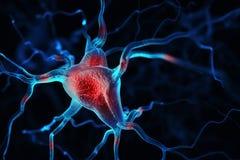 Abstrakter Hintergrund der Neuronen lizenzfreie abbildung