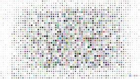 Abstrakter Hintergrund der nichtüberlappenden Quadrate Stockfotos