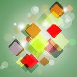 Abstrakter Hintergrund der Quadrate. Lizenzfreies Stockbild