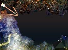 Abstrakter Hintergrund, der Rauche mit Pfeil ähnelt vektor abbildung