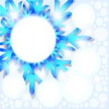 Abstrakter Hintergrund der Schneeflocke. Lizenzfreies Stockfoto